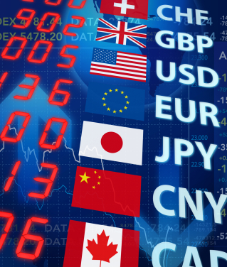 Main currency pairs in the forex market